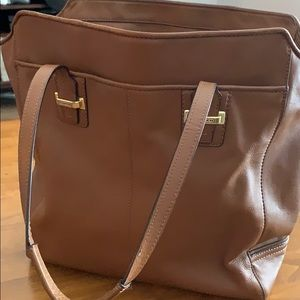 Coach Large Leather Brown Tote